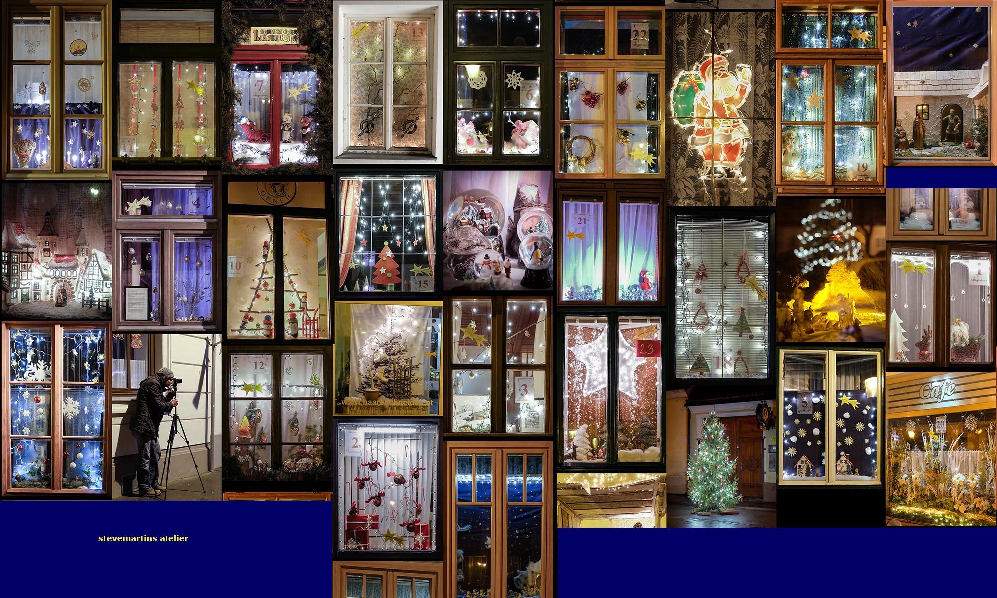 Das Bild zeigt den erwanderbaren Adventkalender in Stammersdorf